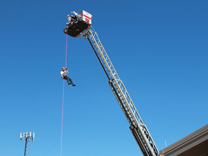 photo of combined area rescue team training