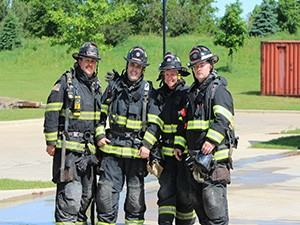 group photo of firefighters