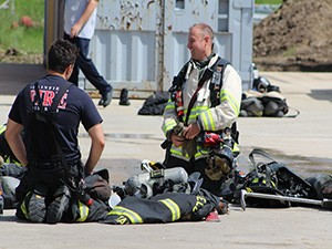firefighters gearing up for live fire training