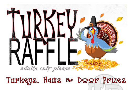 2015 Turkey Raffle Logo