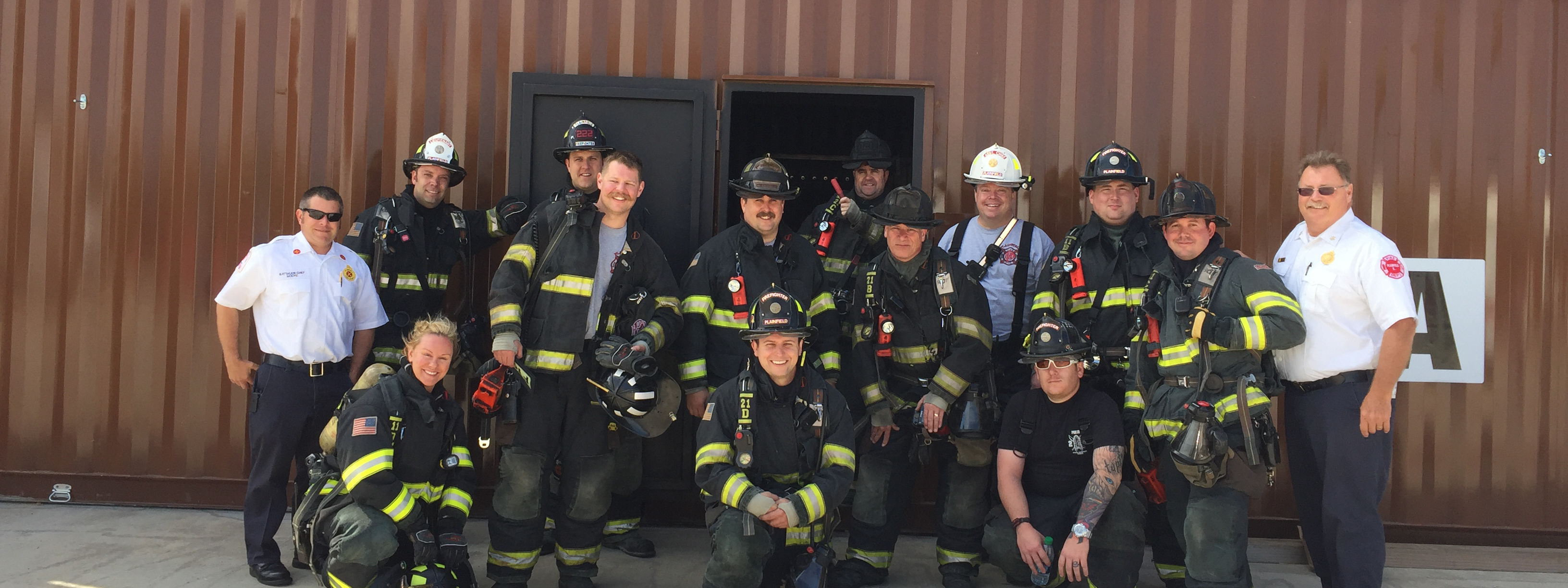 group photo of plainfield firefighters