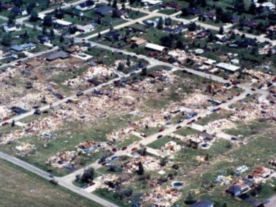 Plainfield Tornado Aftermath 1996