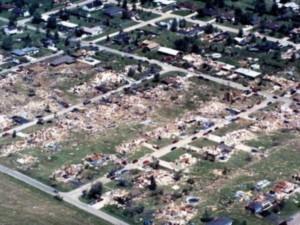 Plainfield Tornado Aftermath 1996